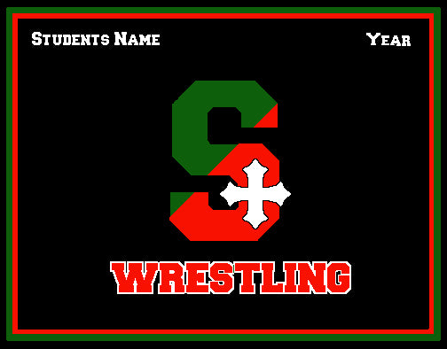 STSA Wrestling Blanket Customized Name & Year 60 x 50