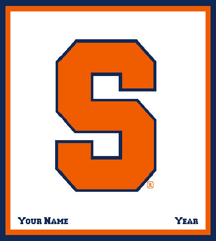 Syracuse Natural Customized with your Name and Year 50 x 60