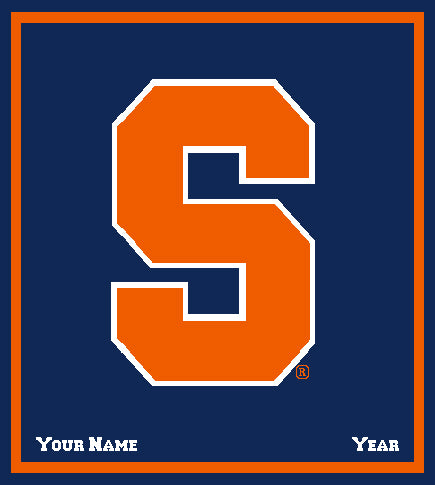 Syracuse Navy Customized with your Name and Year 50 x 60