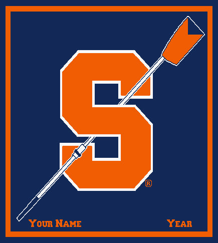 Syracuse Rowing Customiozed with your Name and Year50 x 60