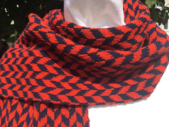UVA Colors Chevron Scarf 9 x 60