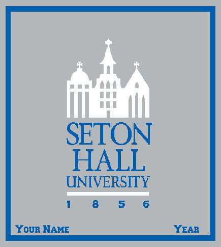 Custom Seton Hall Grey 50 x 60