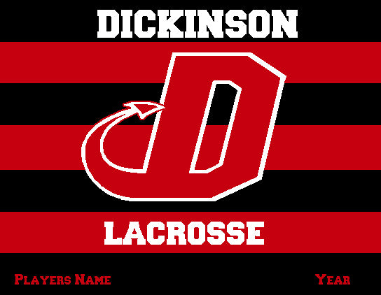 Dickinson Striped Lacrosse Customized Name & Year 60 x 50