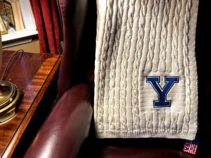 YALE Natural  Cable Blanket