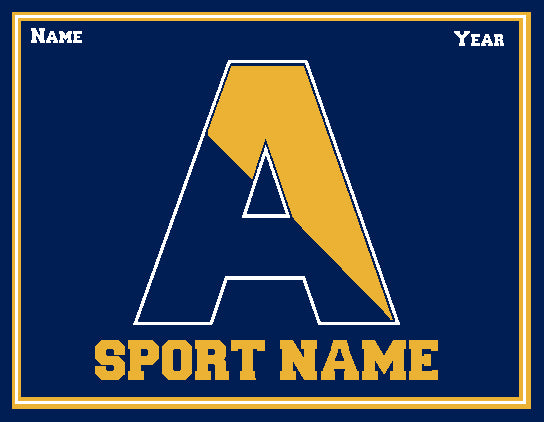 Custom Agnes Irwin Solid Athletic Any SPORT Name and Year 60 x 50