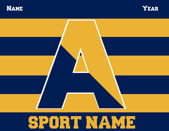 Custom Agnes Irwin Striped Athletic Any SPORT Name and Year 60 x 50