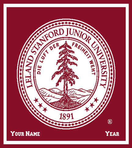 Custom Stanford Cardinal Seal 50 x 60