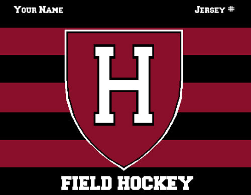 Custom Harvard FH Striped 60 x 50 Name and Number