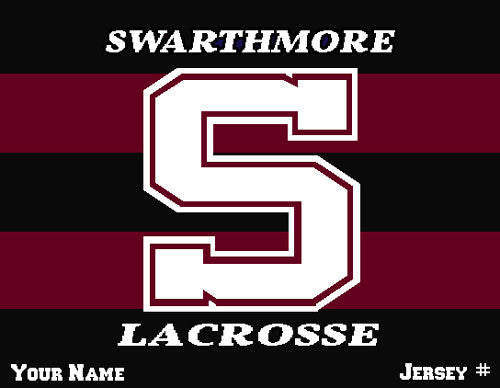 Swarthmore Men's Striped Lacrosse Name & Number