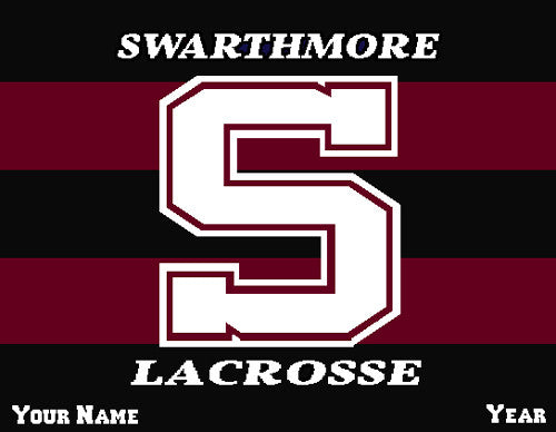 Swarthmore Men's Striped Lacrosse Name & Year