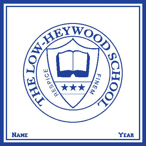 Low-Heywood Seal  Customized with Name and Year 50 x 60