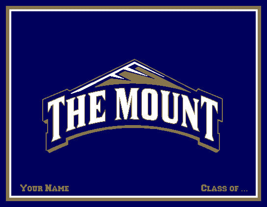"Mt. St. Mary's ""The Mount"" Blanket Customized with Name & Year"