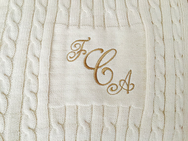 Classic Cotton 6 Needle Blanket with Embroidery
