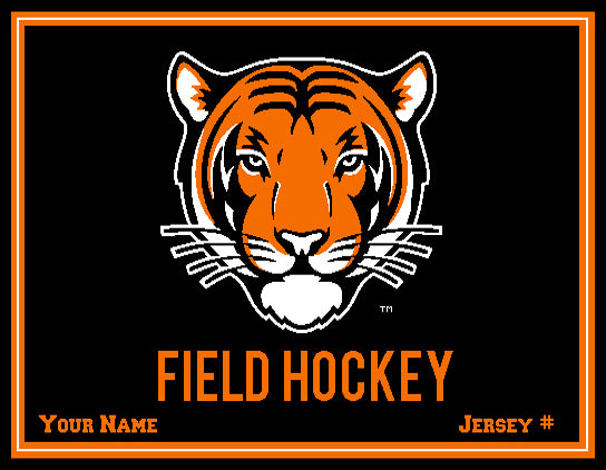 Princeton FH Tiger Name and #  60 x 50