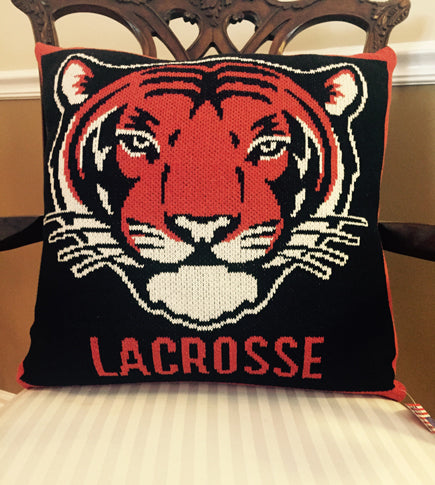 Princeton TIGER Lacrosse Pillow 20 x 20