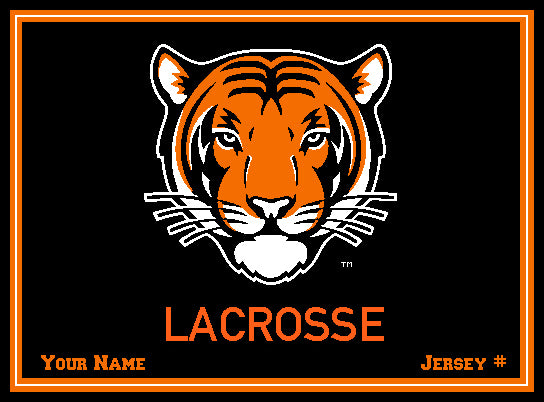 Custom Princeton Tiger Lacrosse Name and Number  60 x 50