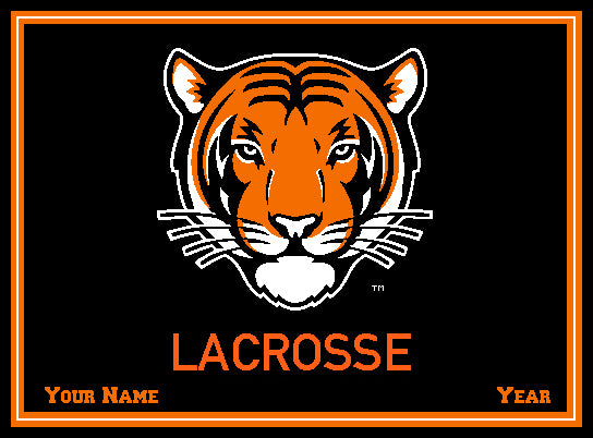 Custom Princeton Tiger Lacrosse Name and Year 60 x 50