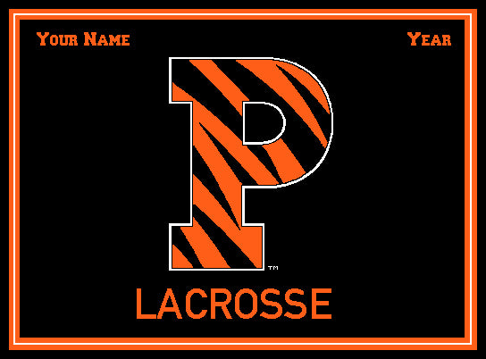 Custom Princeton P Lacrosse Name and Year 60 x 50
