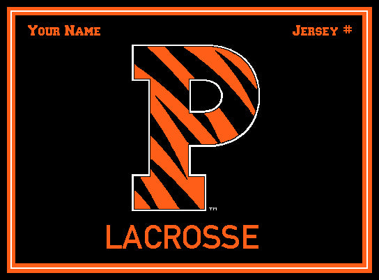 Custom Princeton P Lacrosse Name and Number 60 x 50