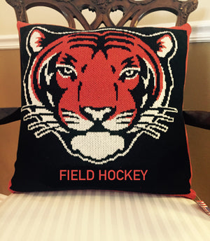 Princeton TIGER Field Hockey Pillow 20 x 20