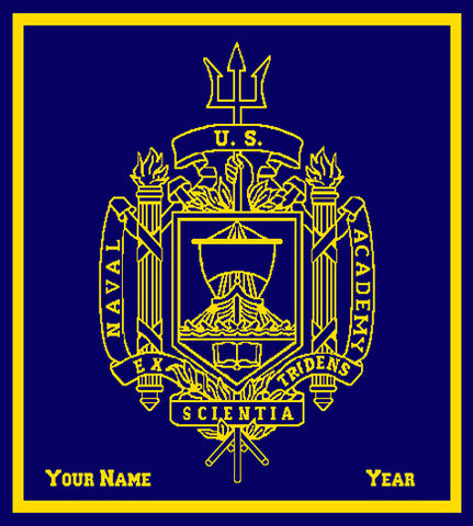 Custom USNA Trident Name and Year 50 x 60