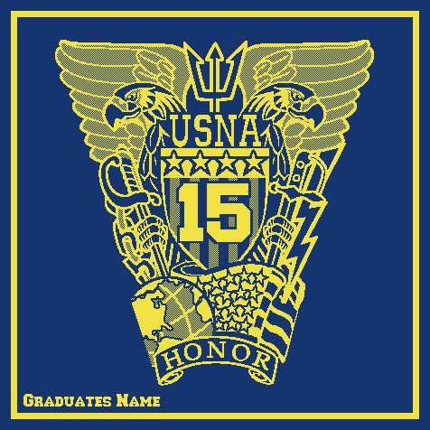 Custom US Naval Academy Class of 2015 Seal Blanket