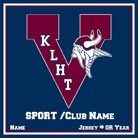 King Athletic Any Sport /Club Customized with your Sport or Club, Name, # or Year 50 x 60