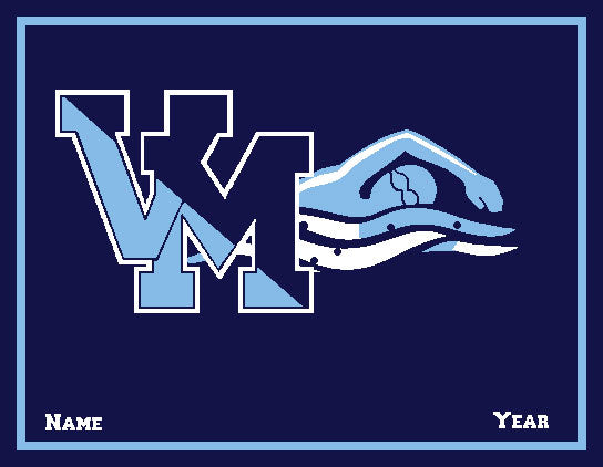 Customized Villa Maria Academy Swimming with your Name and Year