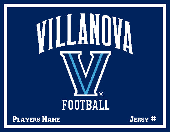Custom Villanova Football   60 x 50 Name & Number