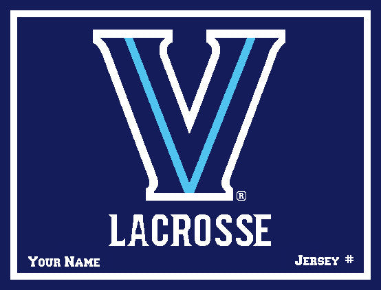 Villanova Men's Lacrosse with  Name & Number