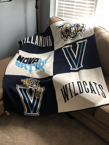 Villanova Multi Logo Dorm, Office, Alumni, Tailgate Blanket