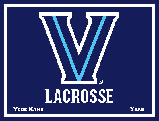 Villanova NAVY Base Women's Lacrosse Customized with  Name & Year