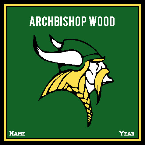 Archbishop Wood Athletic Logo Hunter Base Customized with your Name and Year