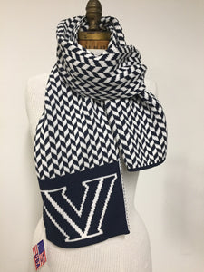 "Villanova Chevron Supersoft ""V"" Scarf"