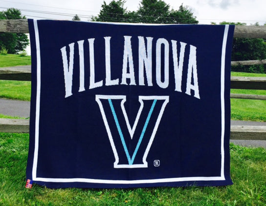 Villanova Navy Signature Logo Dorm, Home, Tailgate blanket