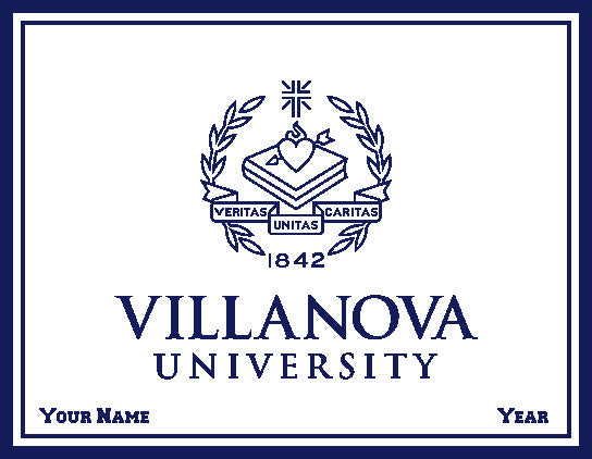 Custom Villanova Natural Seal Office, Dorm or Tailgate Blanket