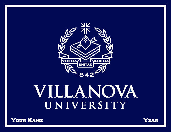 Custom Villanova Navy Seal Office, Dorm or Tailgate Blanket