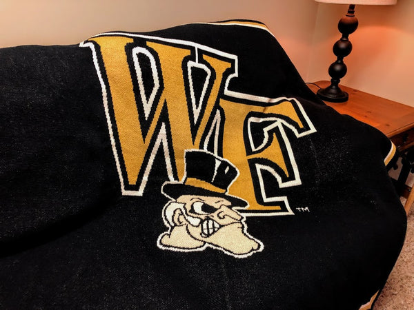 Wake Forest Demon Deacon Black Base 60 x 50