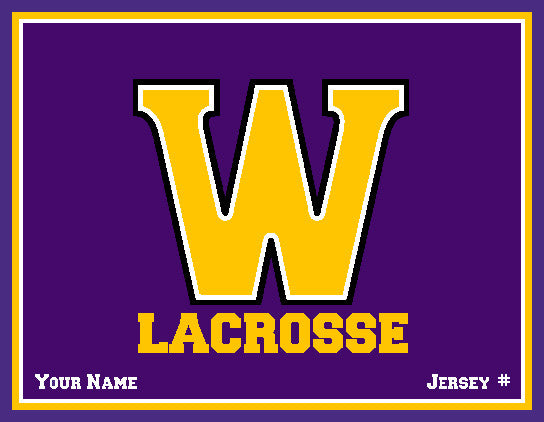 Williams College Solid Men's Lax Name & Number