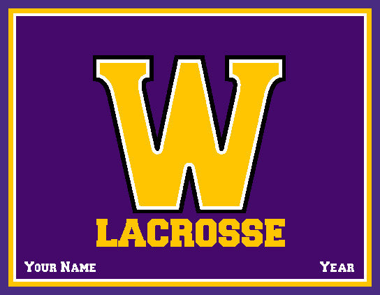 Williams College Solid Men's Lax Name & Year