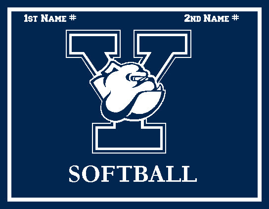 Yale Softball Navy Name & Number - Two Family Players