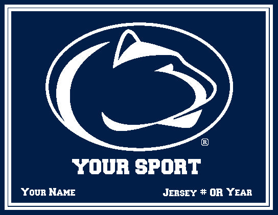 Custom Penn State Athletic 60 x 50