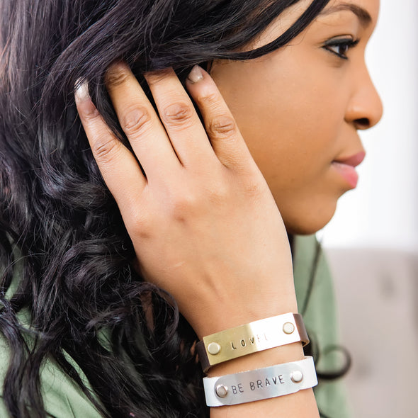 young woman wearing hero bands