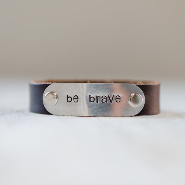 hero band stamped be brave