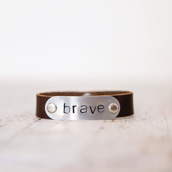 hero band stamped brave
