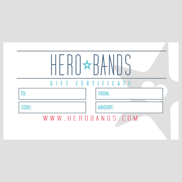 hero bands gift certificate