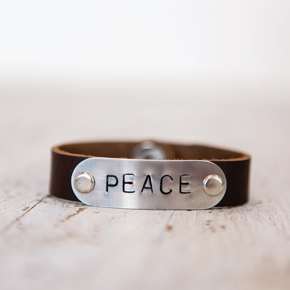 hero band stamped peace