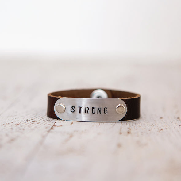 hero band stamped strong