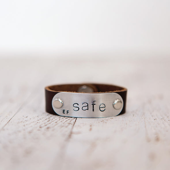 safe band stamped safe