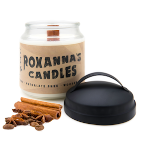 Cinnamon Stick Wooden Wick Soy Candle 16oz Glass Jar